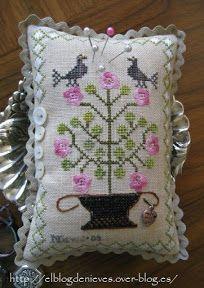 El Blog de Nieves. Labores y Punto de cruz: Abecedario con gato...