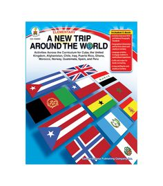 #CDWish13 Take students in grades K–5 on a field trip without leaving the classroom using A New Trip Around the World. This 128-page book explores life in and geographical information and fun facts about Puerto Rico, Guatemala, Cuba, Peru, Chile, Spain, the United Kingdom, Norway, Iraq, Afghanistan, Ghana, and Morocco! The book enables students to discover the world through art projects, recipes, flags, maps, and language studies.