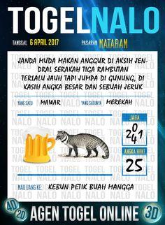 Angka Mimpi 4D Togel Wap Online TogelNalo Mataram 6 April 2017