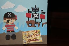 Love this card I made for my nephew who LOVES pirates!!  inspired by liveloveandSCRAP!!