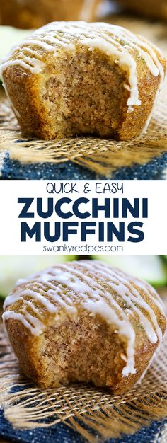- A super easy and quick recipe for zucchini muffins or zucchini bread. You'll love this end of summer healthier muffin! Made with summer zucchini from the garden, warm spices and drizzled in icing. Quick Recipes, Brunch Recipes, Baking Recipes, Dessert Recipes, Healthy Recipes, Vegetable Recipes, Zucchini Bread Muffins, Zucchini Bread Recipes, Pumpkin Zucchini Bread