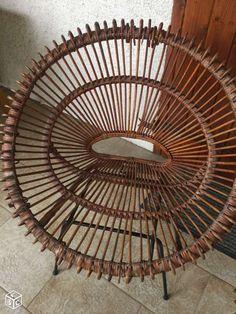 Fauteuils (2) osier rotin vintage pieds tripodes Décoration Saône-et-Loire - leboncoin.fr
