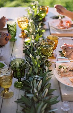 Rosey Pink & Sage Summertime Dinner Party