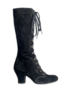 Granny boots....  I wore these in High School,took me forever to lace them up after gymn,lol.