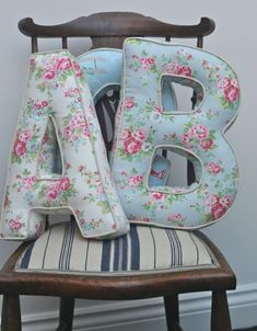 Sewing Pillows Alphabet Cushions More - You will love to learn how to make these very popular Alphabet Letter Pillows and they are easy when you know how. Watch the quick video too. Sewing Pillows, Diy Pillows, Cushions To Make, Chair Cushions, Sofa Pillows, Sewing Hacks, Sewing Crafts, Sewing Tips, Sewing Tutorials