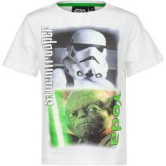 T-Shirt Star Wars - Stormtrooper & Yoda (Wit)