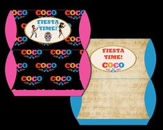 Coco Pillow Boxes Party Printable Hershey Kisses, Tent Cards, Pillow Box, Cupcake Wrappers, Bottle Labels, Party Printables, Alphabet, Banner, Boxes
