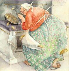 Bildergebnis für inge Look Illustrations, Illustration Art, Old Lady Humor, Affinity Photo, Whimsical Art, Getting Old, Old Women, Cute Pictures, Fantasy Art