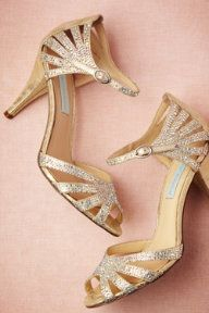 Champagne Sparkle Heels, just one of the many BHLDN shoes I can't decide between...