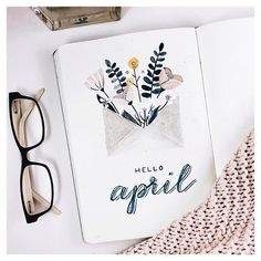 April Bullet Journal Inspiration - Rae& Daily Page Bullet Journal School, Bullet Journal Inspo, Bullet Journal Cover Ideas, April Bullet Journal, Bullet Journal Aesthetic, Bullet Journal Notebook, Bullet Journal Themes, Bullet Journal Layout, Journal Covers