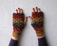 Guanti senza dita - Fingerless Gloves winter mittens - un prodotto unico di mmareshop su DaWanda