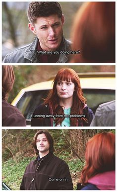 Running away from my problems...this is often how I feel about logging onto pinterest. 8x20 Pac-Man Fever #Supernatural #S8