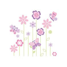 """Butterfly Mural Wall Decals - Kids Line - Babies """"R"""" Us"""