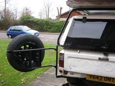 Spare wheel carrier open