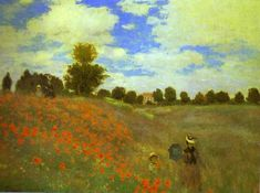 Red Poppies at Argenteuil by Claude Monet