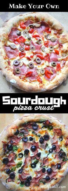 Get the recipe and learn the basic technique for making delicious Chewy Sourdough Pizza Crust (using sourdough starter, requires overnight proofing) Pizza Recipes, Real Food Recipes, Cooking Recipes, Cooking Games, Kitchen Recipes, Bread Recipes, Keto Recipes, Pizza Au Levain, Easy Sauce Recipe