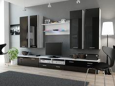 oregon 5 modern wall units living room wall units and modern wall - Meuble Tv Living