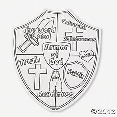 """Color Your Own """"Armor Of God"""" Cutouts"""