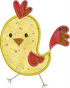 Baby Rooster applique designs 3 sizes by DBembroideryDesigns