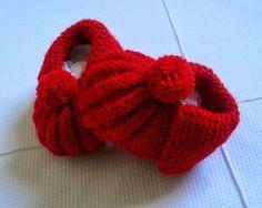 Minhas linhas e eu: Receita e passo a passo (com fotos) de sapatinho para bebê com pompom, em tricot