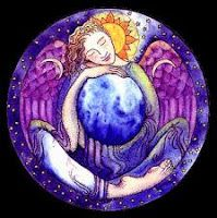 Earth Angel by Meraylah Allwood Wiccan, Witchcraft, Angel Protector, Le Tarot, Lisa Angel, Angel Guide, Save Our Earth, Shape Art, Angel Cards