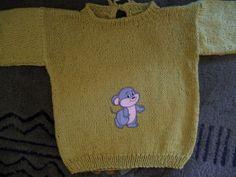 senffarbener Mäuschenpullover Gr. 74/80 von Der Family-Shop auf DaWanda.com
