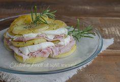 Parmigiana fredda di patate prosciutto e mozzarella