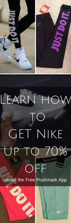 Get the best deals on Nike today with the free app! Save up to 70% on brands you love. Click image to install the FREE app and start shopping now