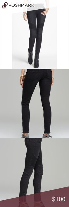 Free people Moro skinnies nwot Seamed moto skinnies in midnight.  These are awesome.  I bought them off a board nwot and never wore them either.  While searching I learned that Hayley from The Originals wore them. Free People Jeans Skinny