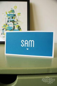 Letterpress geboortekaartje – Sam