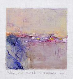 Nov. 22 2016  Original Abstract Oil Painting  by hiroshimatsumoto