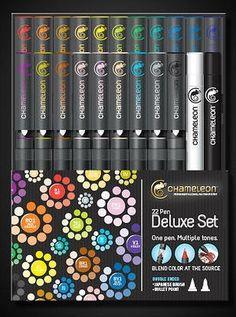 22 Pen Deluxe Set Chameleon Alcohol Marker from Chameleon