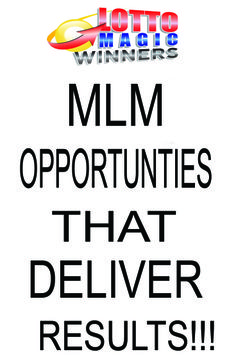 MLM Opportunities that deliver results!!! Lotto Magic Winners video shows the only home base business on the Planet that can make you Filthy rich! #mlm opportunities
