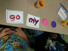Play dough sight words mats.