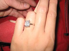 Pure , simple, classic solitaire.....emerald cut and just perfect!
