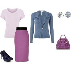 """Cool Summer - lila/mauve/blue"" by adriana-cizikova on Polyvore"