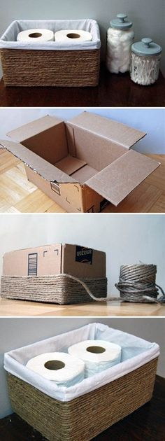 15 Easy and Cheap DIY Projects to Make Your Home a Better Place - Basket Bin - I. home diy cheap 15 Easy and Cheap DIY Projects to Make Your Home a Better Place - Basket Bin - I. - Home Decor Art Easy Home Decor, Cheap Home Decor, Diy Home Projects Easy, Craft Ideas For The Home, Diy Decorations For Home, Homemade Home Decor, Diy House Decor, Weekend Projects, Recycled Home Decor