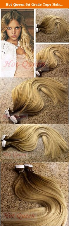 Hot Queen 6A Grade Tape Hair Extensions Double Drawn Skin Weft Ombre Hair Piece Tape 40P/100g Dark Brown. Material:Malaysian Virgin Human Hair Texture: Straight Color:Picture Color, Can Be Dyed / Bleached Hair Length: 16-24 inches Weight: 2.5g/pcs Package: 40 pcs/ package Total weight: 100g/package Quality: Top quality,6A Grade,no shedding,no tangles,no bad smell,no clips Classic Malaysian Virgin Straight hair is collected directly from the donors by a trained team. The color ranges from...