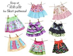 Pattern Sizes included: 6m-12m-18m-2-3-4-5-6-7-8 The skirt has a simple elastic waist for easy fit, no buttons or zippers! Bow can be tied in front or back. Mix & match fabric for a variety of cute skirts! Pattern