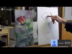"""МК по живописи от Александра Маранова """"Роза"""" - YouTube"""