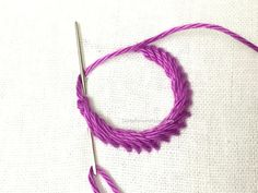 Rope Stitch - Hand embroidery stitch