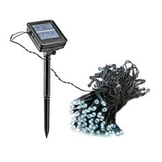 55 Foot Solar Powered Outdoor Christmas Holiday String Lights with 150 White LED by Reusable Revolution LLC. $24.99. Turns on automatically when it becomes dark. 100% Solar powered no external wiring necessary!. 150 White LED's. Rechargeable AA Ni-MH battery included. Dimensions: 55.7'. 55 Foot Solar Powered Holiday String Lights with 150 White LED's. These lights are solar powered, so they require no additional wiring or plugging into outlets. The included solar panel can...