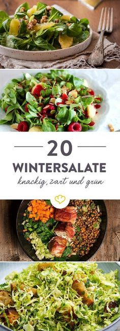 20 winter recipes for your salad bowl- 20 winterliche Rezepte für deine Salatschüssel Since we have the mess! Sometimes fruity and nutty. Sometimes with hearty fillers. But always with a high enjoyment factor. Get inspired 20 times. Clean Eating, Healthy Eating, Healthy Food, Tzatziki, Healthy Salad Recipes, Salad Bowls, Winter Food, Soul Food, Food Inspiration