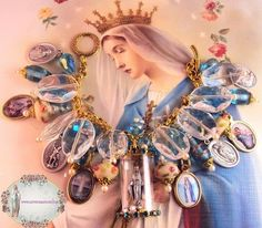 Virgin Mary Catholic Miraculous Medal Religious Bracelet www.letyscreations.com
