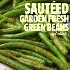 """""""This is a great way to cook fresh green beans. This recipe is very basic, but can easily be jazzed up with some onions, fresh garlic, mushrooms – let your imagination run wild! This recipe also is very good for fresh asparagus. Side Dish Recipes, Vegetable Recipes, Healthy Dinner Recipes, Vegetarian Recipes, Cooking Recipes, Bacon Recipes, Steak Recipes, Keto Recipes, Asparagus Recipe"""