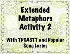 ... TPCASTT template that helps bring the focus of the activity to