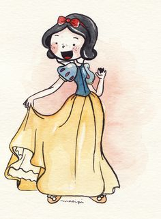 As Princesas Disney por Malipi - Just Lia Disney Fan Art, Disney Pixar, Disney Movies, Disney Characters, Disney Princesses, Disney Princess Drawings, Princess Art, Disney Drawings, Cute Drawings