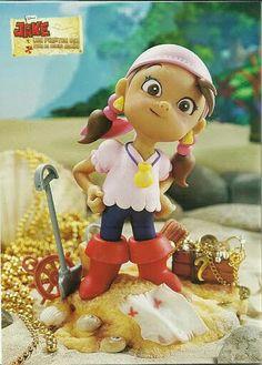 Chicas valientes: Jake y los Piratas de Nunca Jamás en porcelana fría / arcilla polimérica / polymer clay