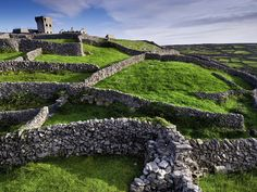 National Geographic     Castles of Ireland ~ Castle O'Brien, Inisheer  -   Ancient drystone walls snake out from the ruins of Castle O'Brien, perched atop the highest hill on Inisheer