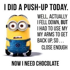 "Top Memes De Minions Here is challenge for you.You can not control on your laugh after reading these ""Top Memes De Minions"".If you accept this challenge then scroll down and read out these ""Top Memes De Minions""and keep sharing with your friends. Minion Humour, Funny Minion Memes, Minions Quotes, Funny Humor, Funny Workout Memes, Funny Gym Quotes, Most Hilarious Jokes, Teen Quotes, Work Quotes"